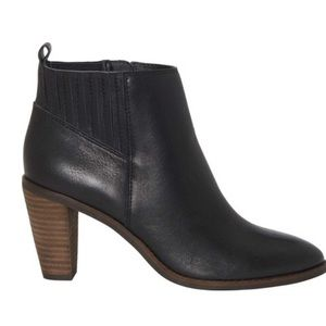 Lucky Brand Nesly Bootie Black Leather